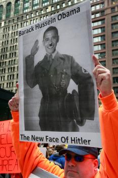 Obama-Hitler sign