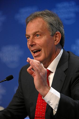 Tony Blair: Creative Commons/World Economic Forum
