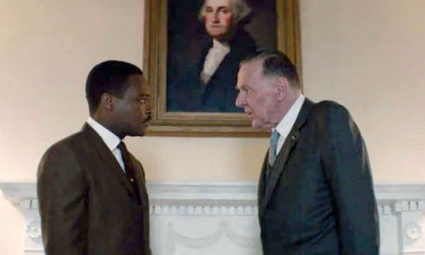 MLK (David Oyelowo) and LBJ (Tom Wilkinson) in Selma.