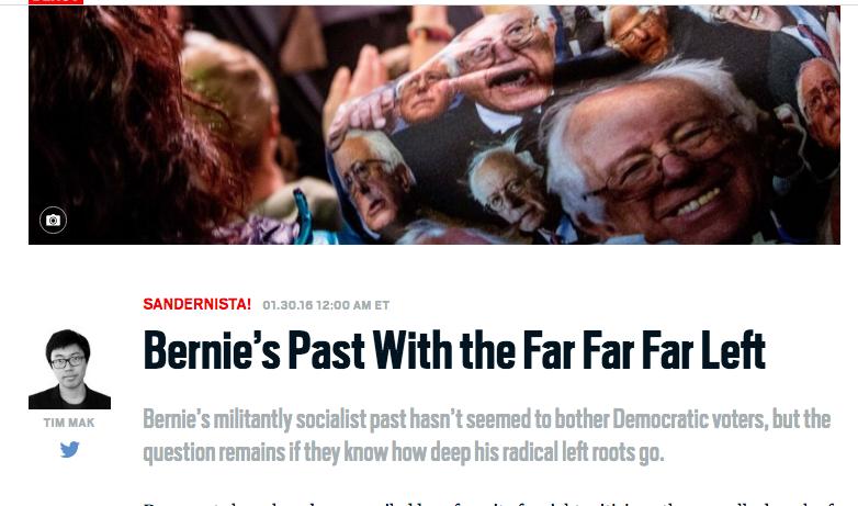 Daily Beast: Bernie's Past With the Far Far Far Left