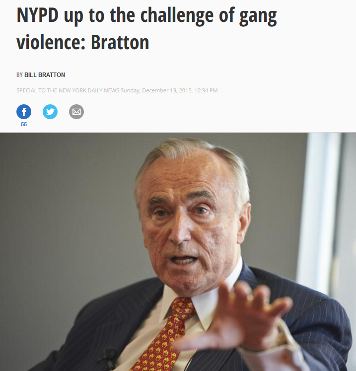 Daily News: NYPD Up to the Challenge of Gang Violence