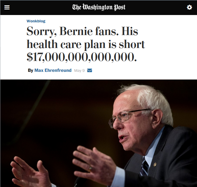 Washington Post: Sorry Bernie Fans