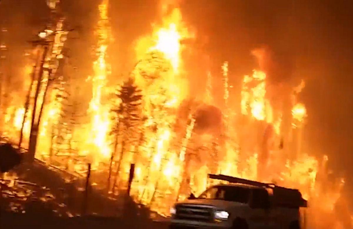 Canadian forest fire (image: Jason Edmondson/You Tube via the Sun)
