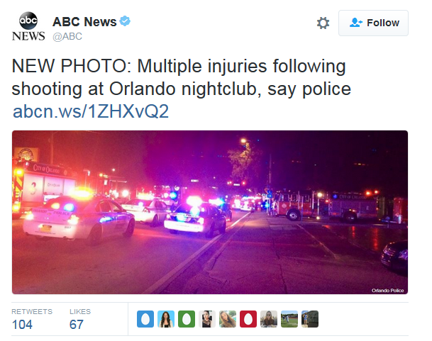 ABC News tweet on Orlando