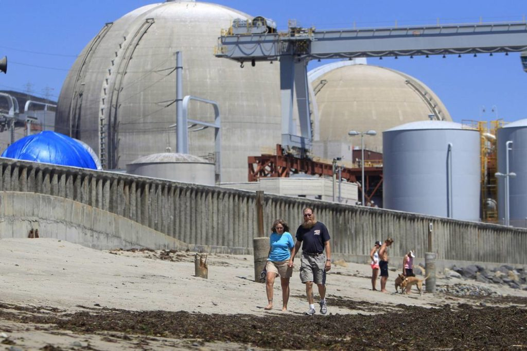 nuclear reactor on beach