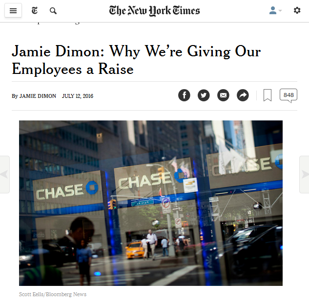 New York Times: Jamie Dimon op-ed