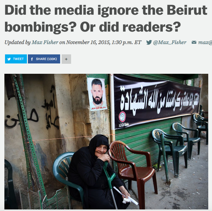 Vox: Did the media ignore the Beirut bombings? Or did readers?