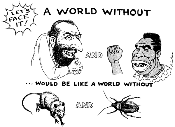 Racist, antisemitic cartoon from 4Chan
