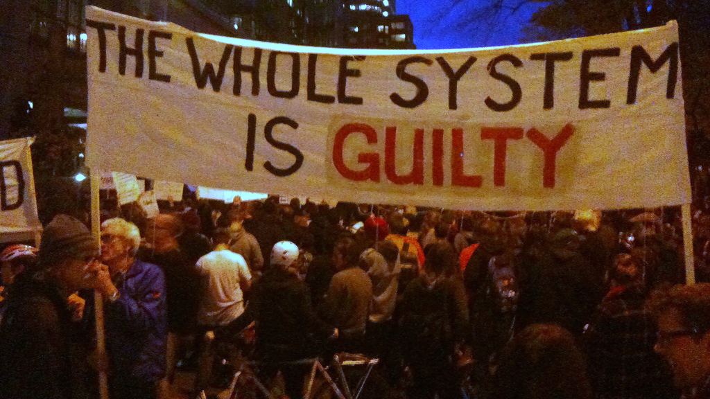 Ferguson: The Whole System Is Guilty (cc photo: Sarah Mirk)