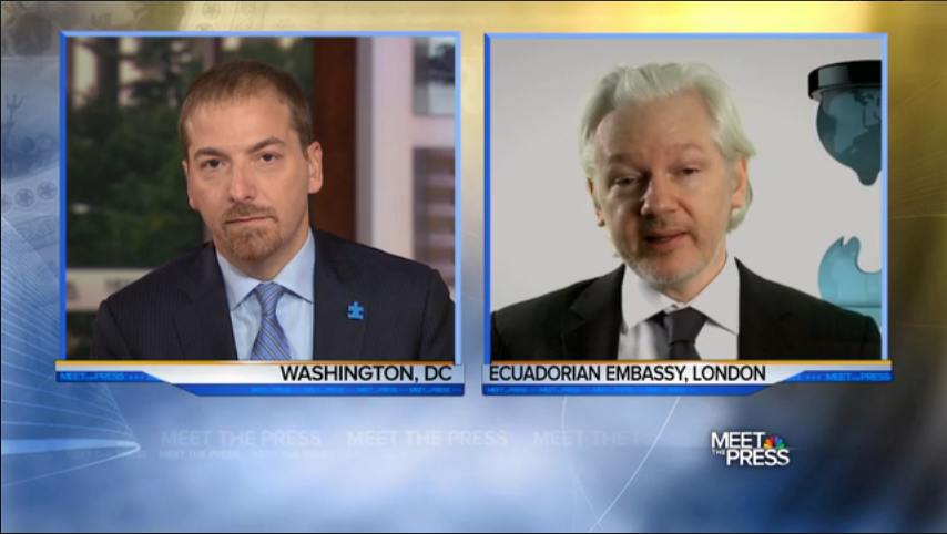 Meet the Press's Chuck Todd interviews WikiLeaks' Julian Assange