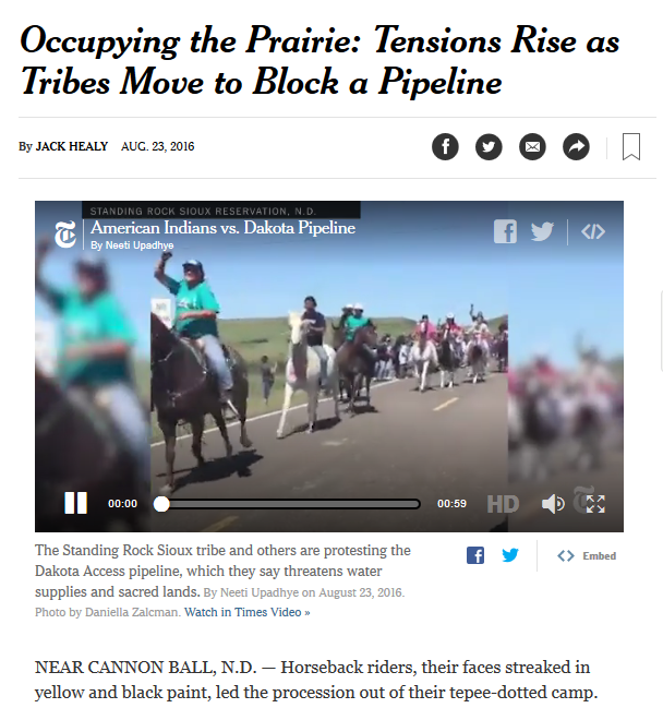 New York Times: Occupying the Prairie