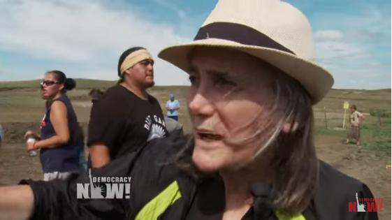 Amy Goodman reporting on the Dakota Access Pipeline.