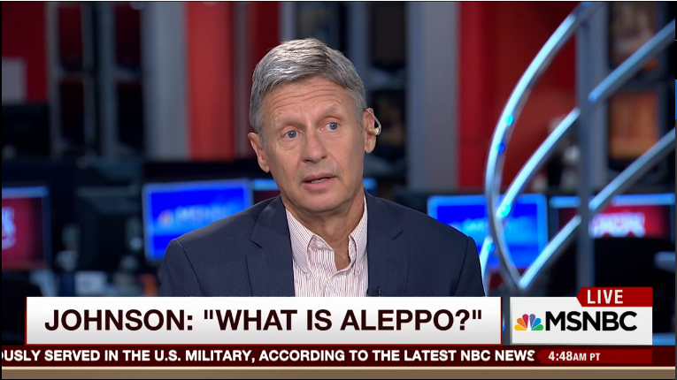'What Is Aleppo?' Asks Gary Johnson–and NYT Gives Three Wrong Answers
