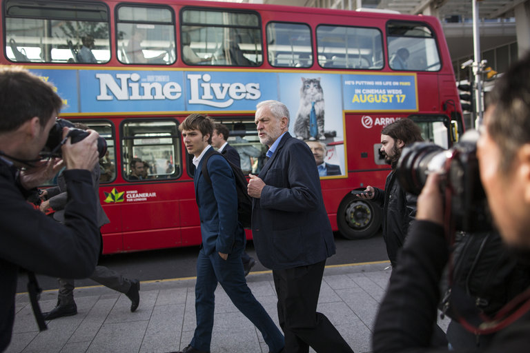 Jeremy Corbyn depicted in the New York Times (photo: Dan Kitwood/Getty Images )