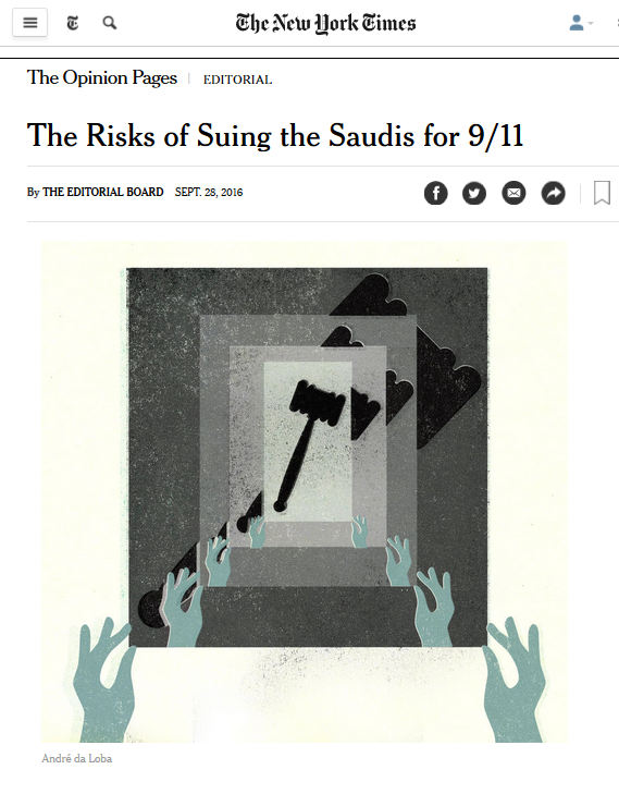 NYT: The Risks of Suing the Saudis for 9/11