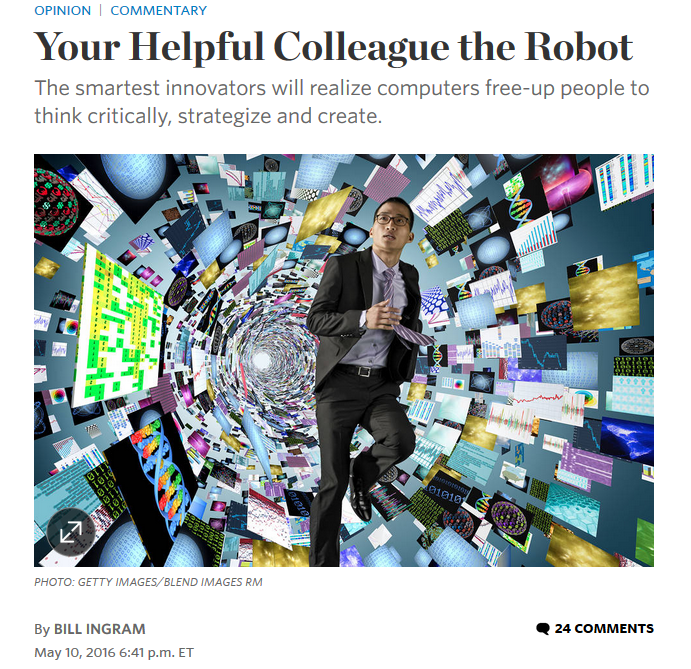 Wall Street Journal: Your Helpful Colleague the Robot