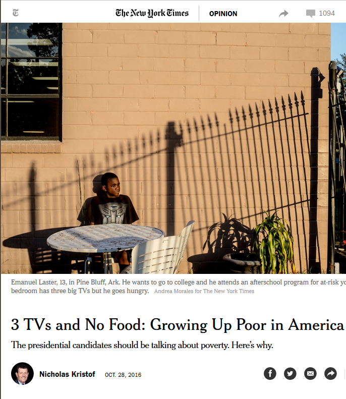 New York Times: Three TVs and No Food