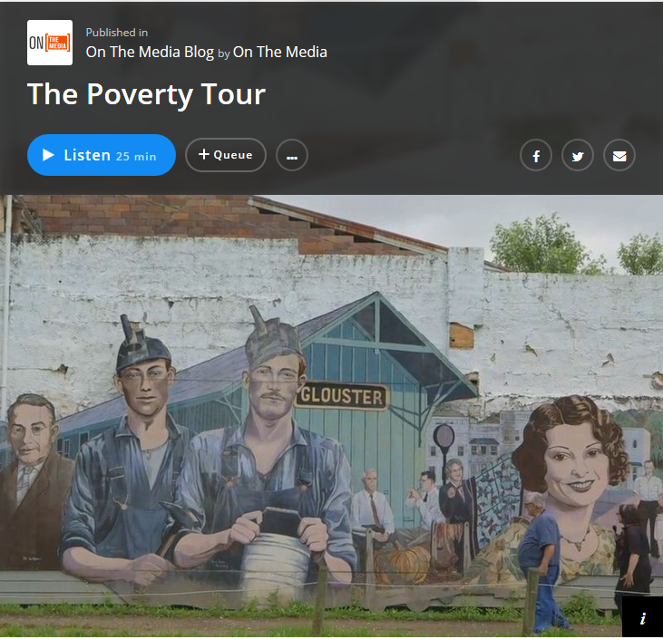 On the Media: The Poverty Tour