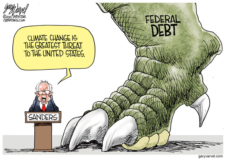 Debt Monster (Gary Varvel, Indianapolis Star)