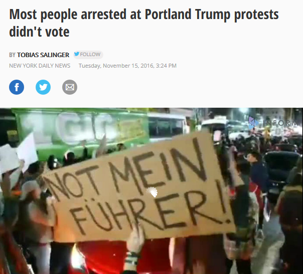 Daily News: Most people arrested at Portland anti-Trump protests didn't vote, report says
