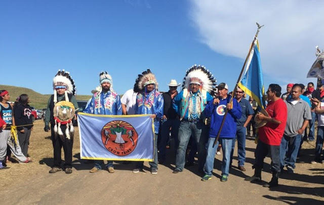 Water Protectors at Standing Rock from the Crow tribe (photo: Your Call)