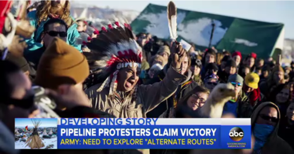 ABC: Pipeline Protesters Claim Victory