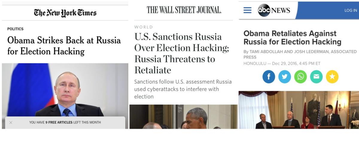 Headlines on 'Election Hacking'