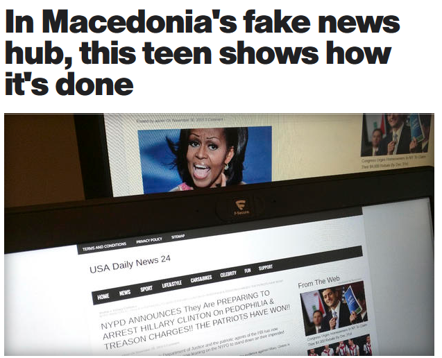 AP: In Macedonia's fake news hub, this teen shows how it's done