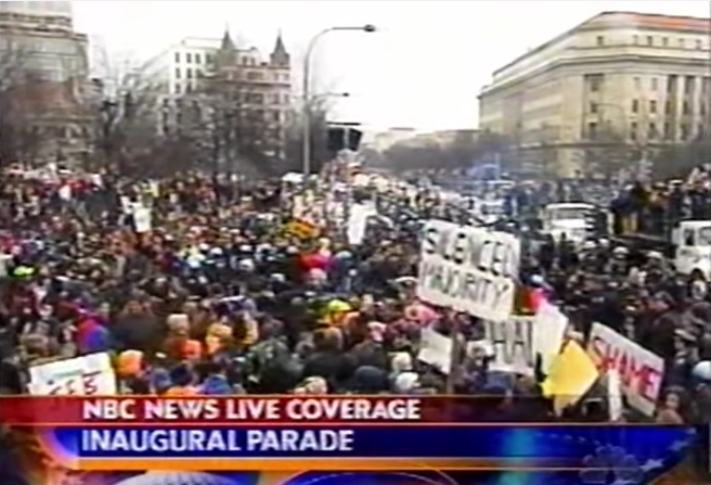 NBC2001Inauguration 1 - NYT Ignored Reality at 2001 Bush Inauguration; Now Ignorance Is History