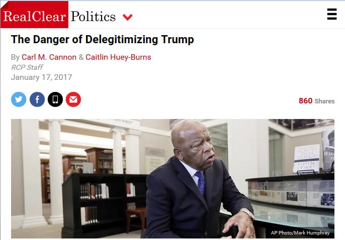 Real Clear Politics: The Danger of Delegitimizing Trump