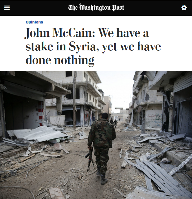 WaPo: We have a stake in Syria, yet we have done nothing