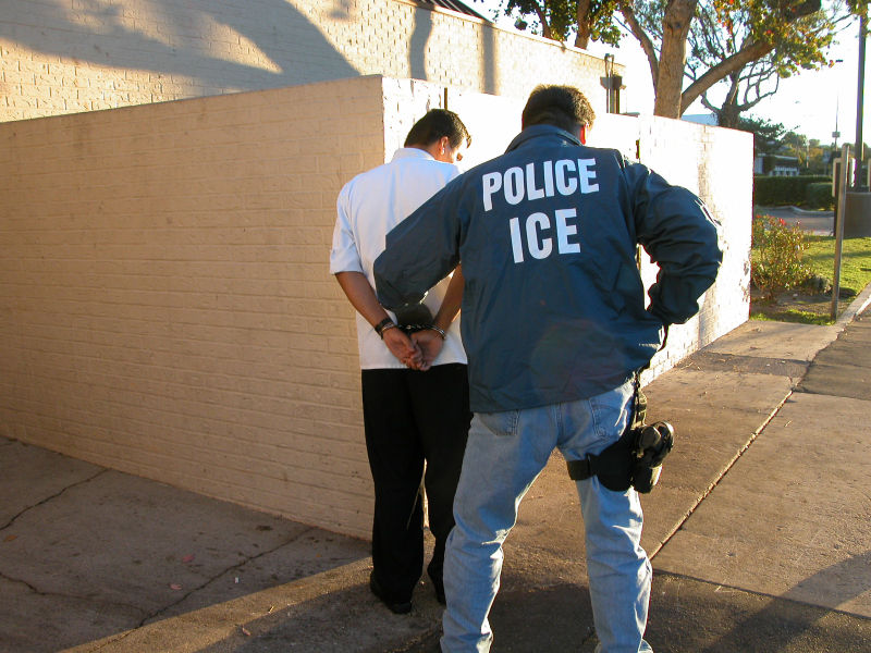 ICE officer making an arrest (Wikimedia)