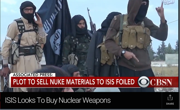 CBS: Plot to Sell Nuke Material to ISIS Foiled