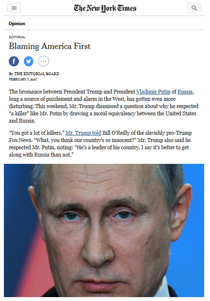 NYT: Blaming America First