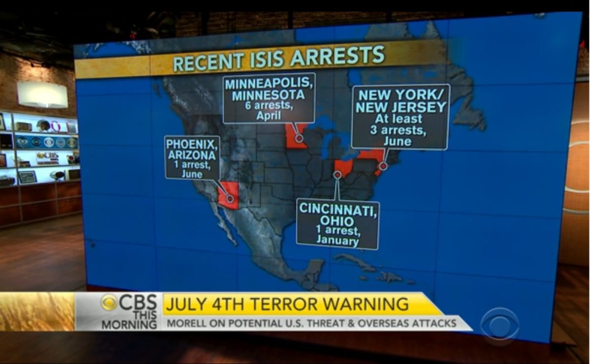 CBS: Recent ISIS Arrests