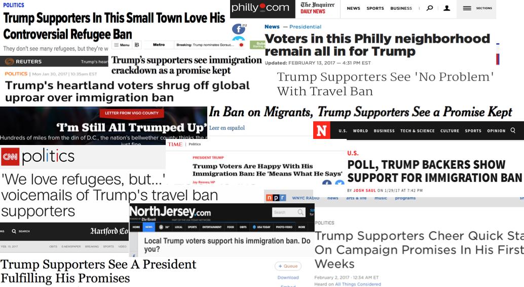 Trump supporters support Trump.