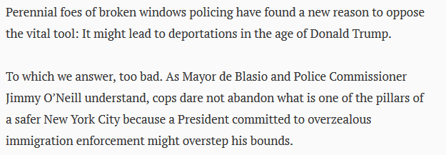 "Daily News on Broken Windows deportations: ""too bad"""