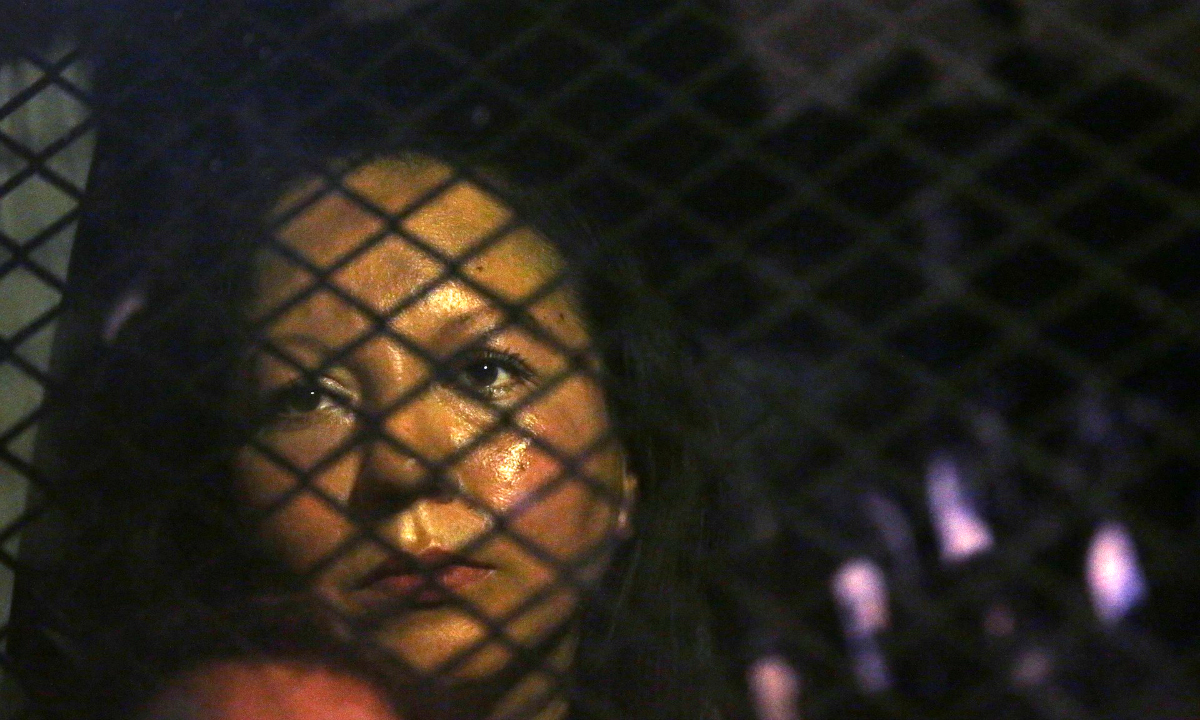 AP photo of Guadalupe Garcia's arrest.