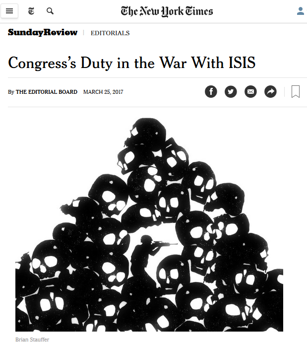 NYT: Congress's Duty in the War With ISIS