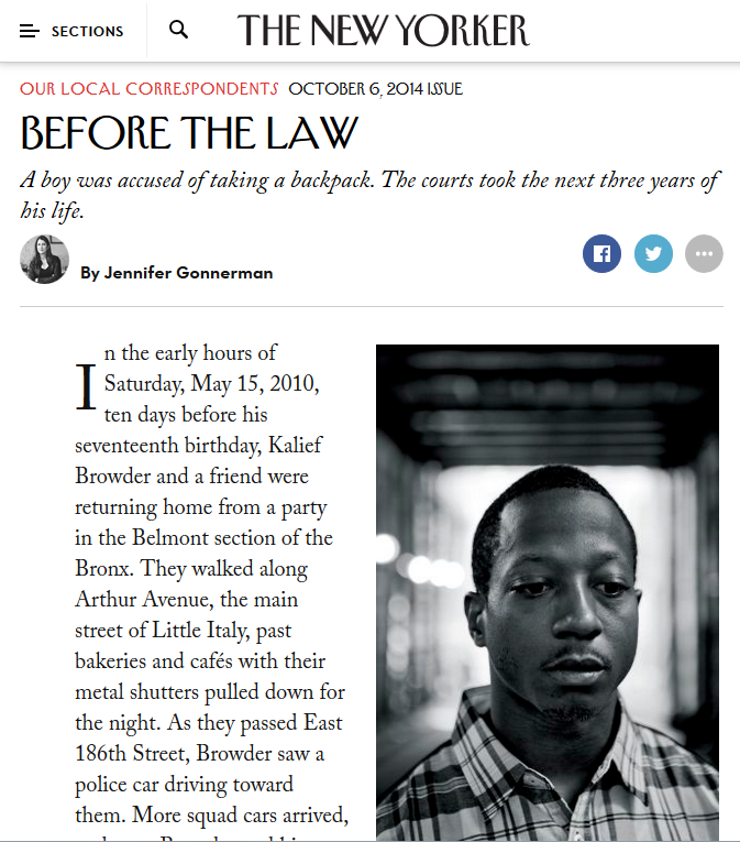 New Yorker: Before the Law