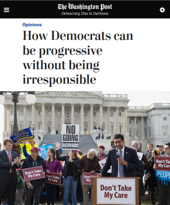 WaPo: How Democrats can be progressive without being irresponsible