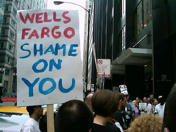 Wells Fargo protest (cc photo: Jobs With Justice)