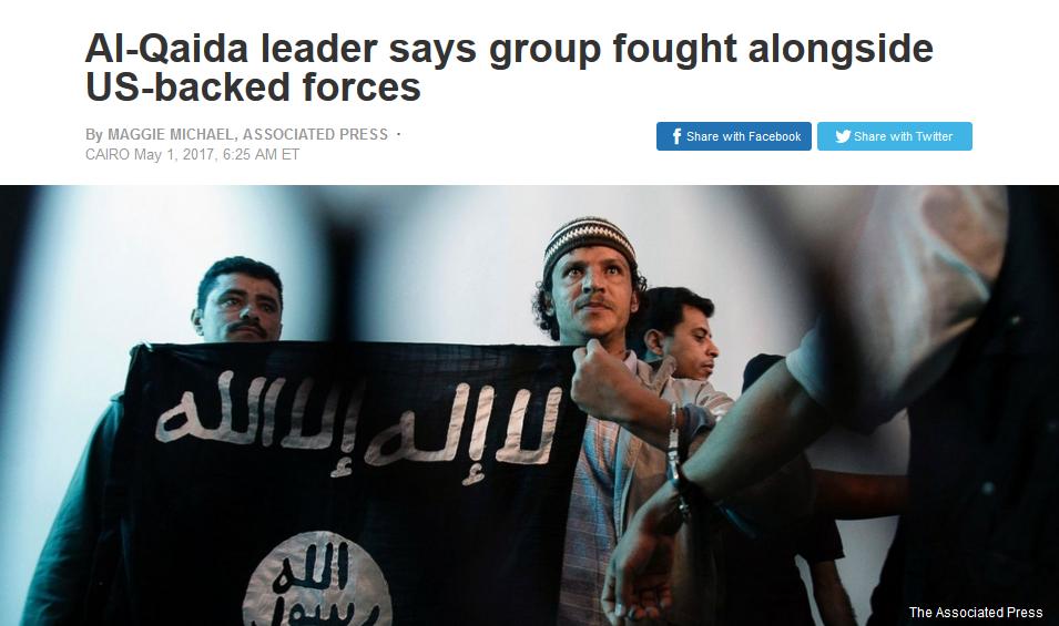 AP:  Al-Qaida leader says group fought alongside US-backed forces