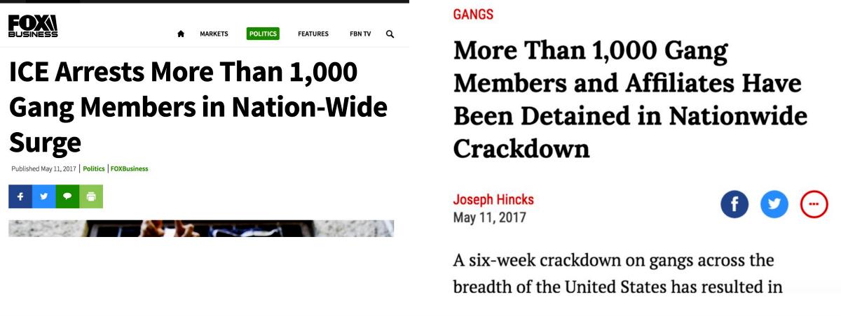 "Fox Business, Time ""gang member"" headlines"