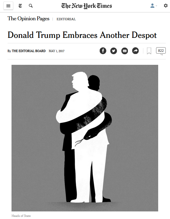 New York Times: Trump Embraces Another Despot