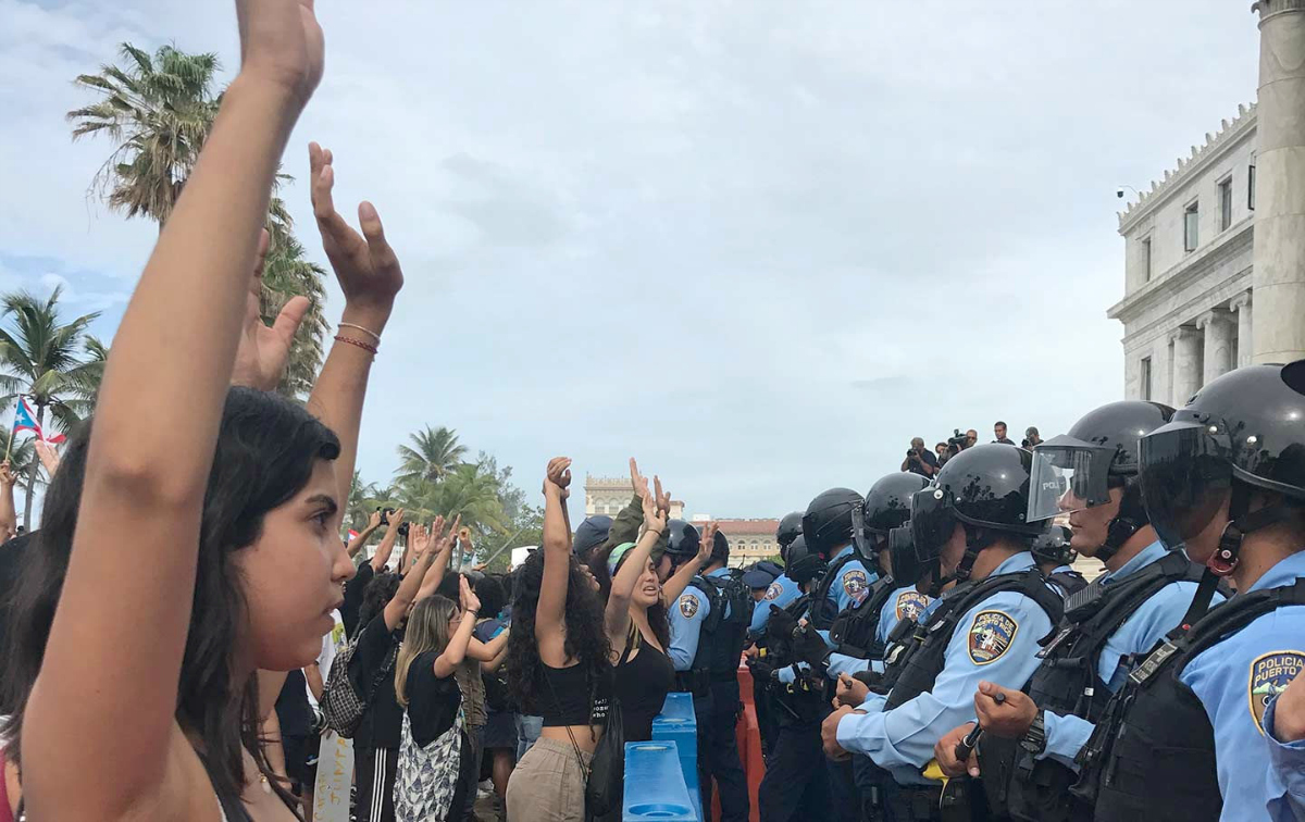 Puerto Rico protest (photo: Aurora Muriente Pastrana/The Nation)