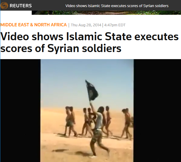 Reuters: Video shows Islamic State executes scores of Syrian soldiers
