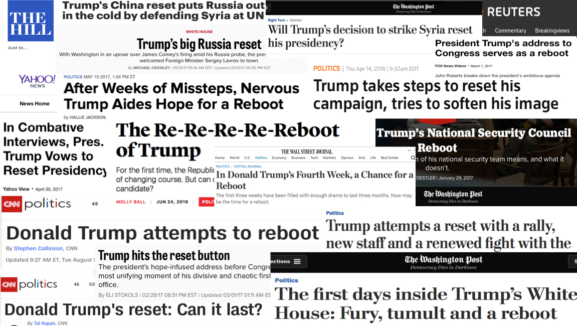 "Trump ""reset"" headlines"