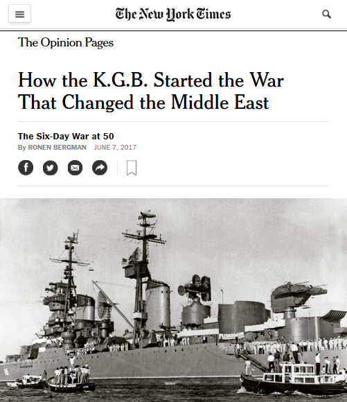 NYT: How the K.G.B. Started the War That Changed the Middle East