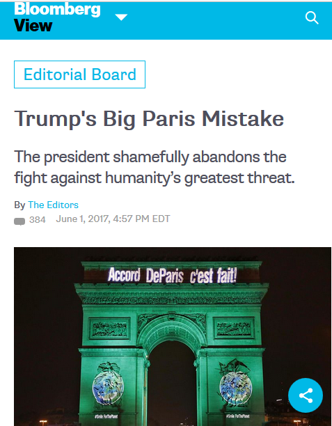 Bloomberg: Trump's Big Paris Mistake